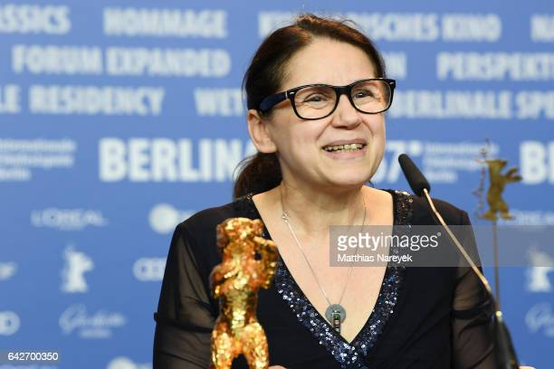 Director Ildiko Enyedi Golden Bear for Best Film 'On Body and Soul' attend the award winners press conference during the 67th Berlinale International...