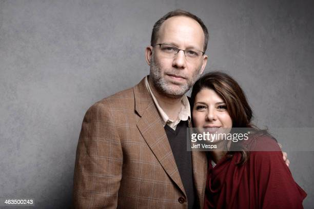Director Ira Sachs and actress Marisa Tomei pose for a portrait during the 2014 Sundance Film Festival at the WireImage Portrait Studio at the...