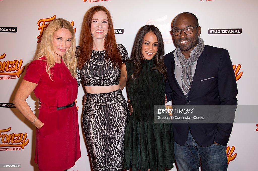 Director Isabelle Doval, actors Audrey Fleurot, Alice Belaidi and Lucien Jean-Baptiste attend the 'Fonzy' Paris Premiere at Cinema Gaumont Opera, in Paris.