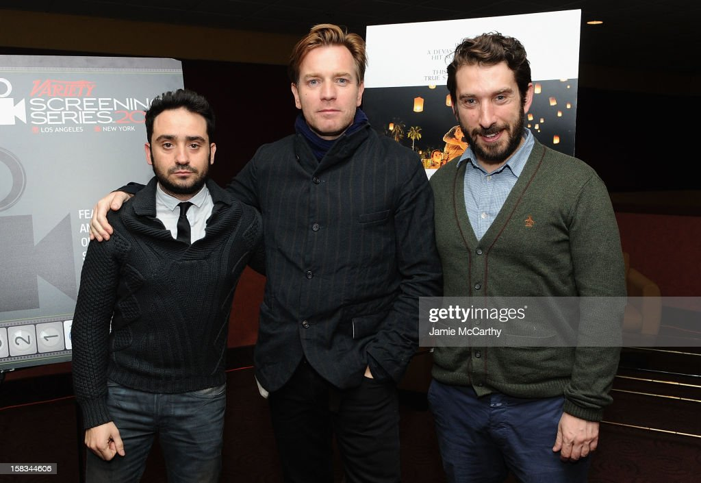 Director J.A. Bayona, Ewan McGregor and writer Sergio G. Sánchez attend the 'The Impossible' screening during the 2012 Variety Screening Series>> at Chelsea Clearview Cinemas on December 13, 2012 in New York City.