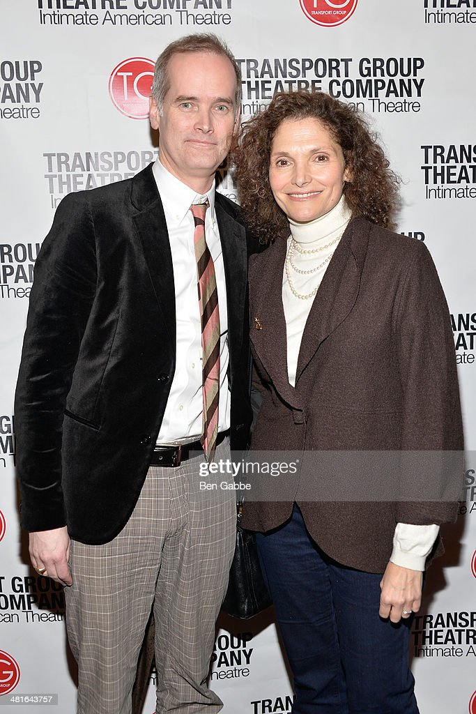 Director Jack Cummings (L) and actress Mary Elizabeth Mastrantonio attends 'I Remember Mama' Opening Night at The Gym at Judson on March 30, 2014 in New York City.