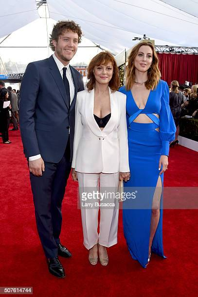 Director Jack Robbins and actors Susan Sarandon and Eva Amurri attend The 22nd Annual Screen Actors Guild Awards at The Shrine Auditorium on January...
