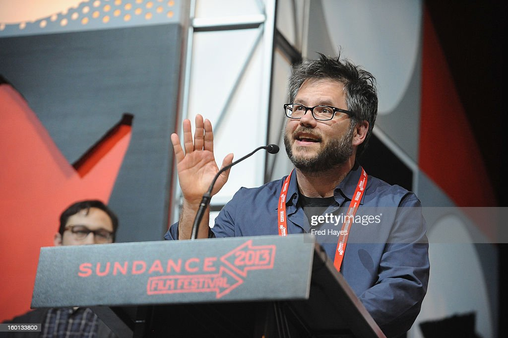 Director Jacob Kornbluth accepts the Special jury Award: U.S. Documentary For Achievement in Filmmaking for Inequality For All onstage at the Awards Night Ceremony during the 2013 Sundance Film Festival at Basin Recreation Field House on January 26, 2013 in Park City, Utah.
