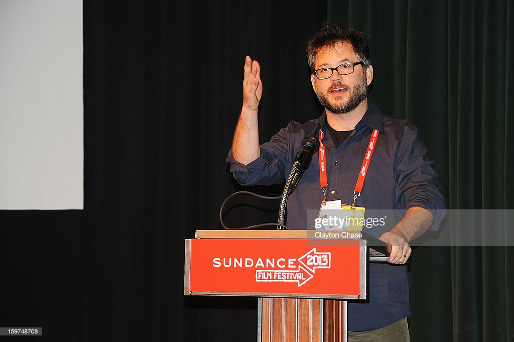 Director Jacob Kornbluth speaks onstage at the 'Inequality For All' premiere at Prospector Square during the 2013 Sundance Film Festival on January 19, 2013 in Park City, Utah.