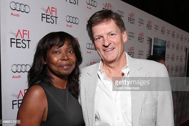Director Jacqueline Lyanga and writer Michael Lewis attend the closing night gala premiere of Paramount Pictures' 'The Big Short' during AFI FEST...