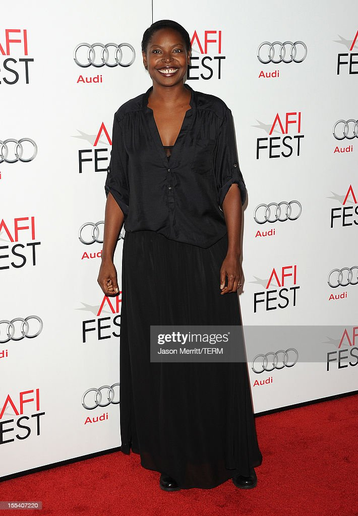 Director Jacqueline Lyanga arrives at the 'Holy Motors' special screening during the 2012 AFI Fest at Grauman's Chinese Theatre on November 3, 2012 in Hollywood, California.