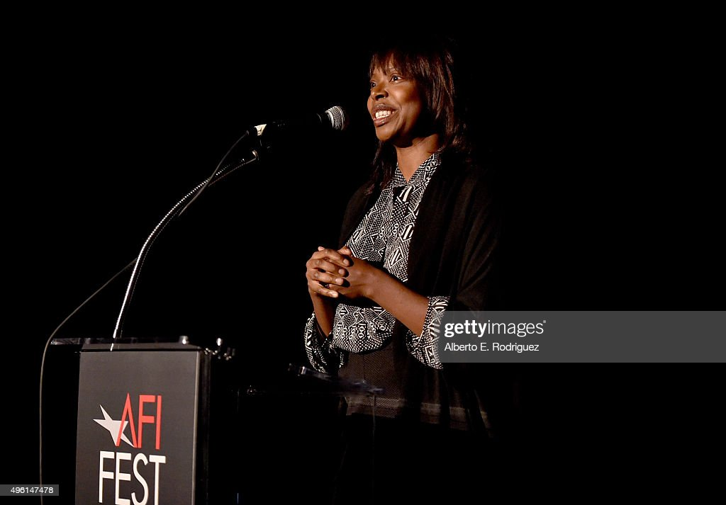 Director Jacqueline Lyanga speaks onstage at 'A Conversation with Benicio Del Toro' during AFI FEST 2015 presented by Audi at the Egyptian Theatre on November 7, 2015 in Hollywood, California.