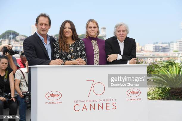 Director Jacques Doillon actors Izia Higelin Severine Caneele and Vincent Lindon attend the 'Rodin' photocall during the 70th annual Cannes Film...