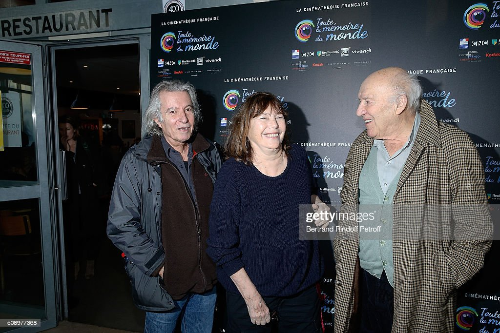 Director Jacques Doillon, Actress <a gi-track='captionPersonalityLinkClicked' href=/galleries/search?phrase=Jane+Birkin&family=editorial&specificpeople=159385 ng-click='$event.stopPropagation()'>Jane Birkin</a> and Actor <a gi-track='captionPersonalityLinkClicked' href=/galleries/search?phrase=Michel+Piccoli&family=editorial&specificpeople=228573 ng-click='$event.stopPropagation()'>Michel Piccoli</a> attend 'La Fille Prodigue' Special Screening at Cinematheque Francaise on February 7, 2016 in Paris, France.