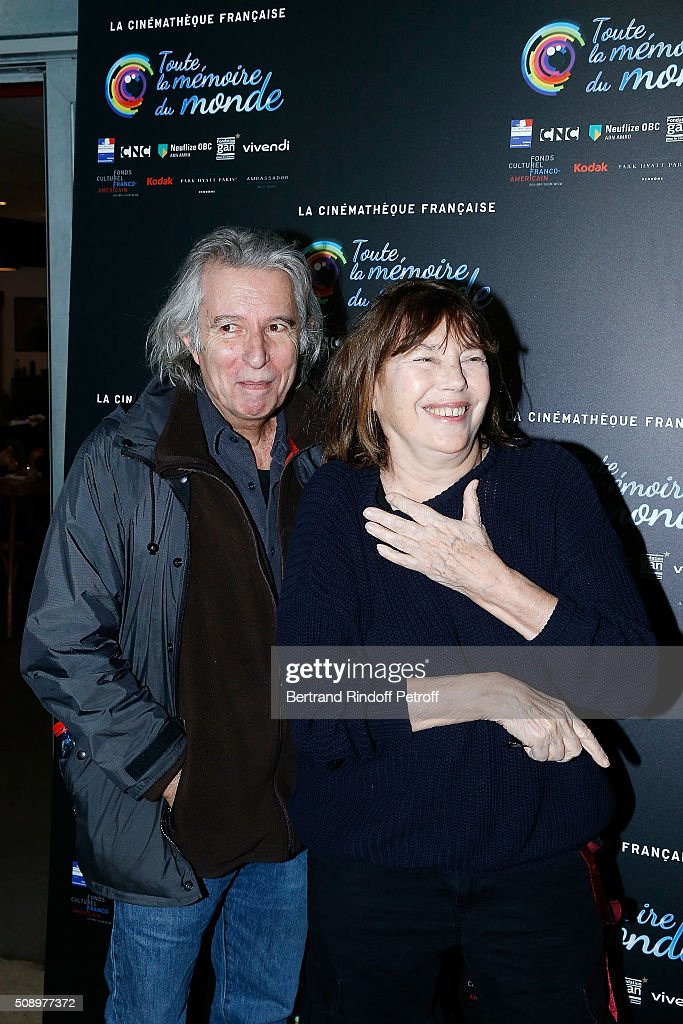 Director Jacques Doillon and Actress <a gi-track='captionPersonalityLinkClicked' href=/galleries/search?phrase=Jane+Birkin&family=editorial&specificpeople=159385 ng-click='$event.stopPropagation()'>Jane Birkin</a> attend 'La Fille Prodigue' Special Screening at Cinematheque Francaise on February 7, 2016 in Paris, France.