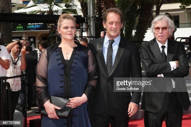 Director Jacques Doillon Vincent Lindon and Severine Caneele attend the 'Rodin' screening during the 70th annual Cannes Film Festival at Palais des...
