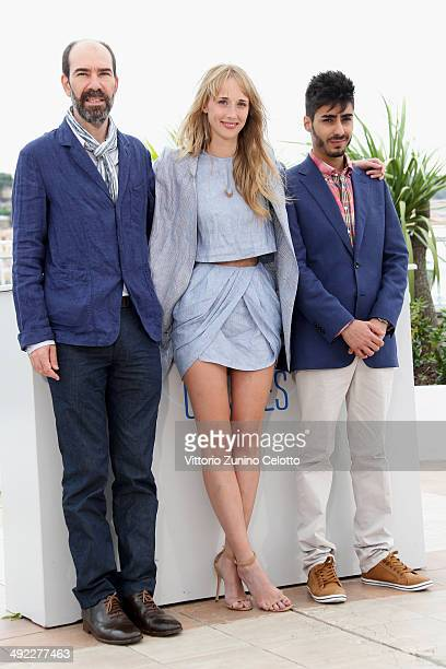 Director Jaime Rosales actors Ingrid GarciaJonsson and Carlos Rodriguez attend the 'Hermosa Juventud' photocall at the 67th Annual Cannes Film...