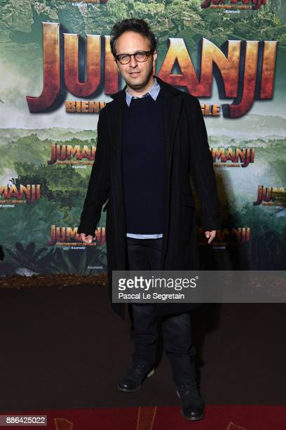 Director Jake Kasdan attends 'Jumanji Welcome to the Jungle' Premiere at Le Grand Rex on December 5 2017 in Paris France