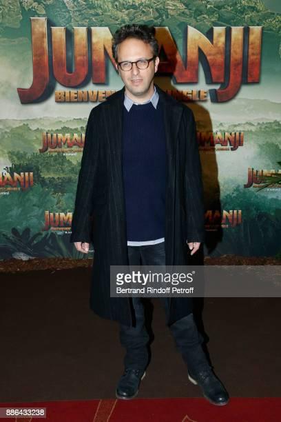 Director Jake Kasdan attends the 'Jumanji Welcome to the Jungle Jumanji Bienvenue dans la jungle' Paris Premiere at Le Grand Rex on December 5 2017...