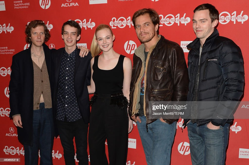Director Jake Paltrow and actors <a gi-track='captionPersonalityLinkClicked' href=/galleries/search?phrase=Kodi+Smit-McPhee&family=editorial&specificpeople=4305552 ng-click='$event.stopPropagation()'>Kodi Smit-McPhee</a>, <a gi-track='captionPersonalityLinkClicked' href=/galleries/search?phrase=Elle+Fanning&family=editorial&specificpeople=2189940 ng-click='$event.stopPropagation()'>Elle Fanning</a>, <a gi-track='captionPersonalityLinkClicked' href=/galleries/search?phrase=Michael+Shannon&family=editorial&specificpeople=660513 ng-click='$event.stopPropagation()'>Michael Shannon</a> and <a gi-track='captionPersonalityLinkClicked' href=/galleries/search?phrase=Nicholas+Hoult&family=editorial&specificpeople=598892 ng-click='$event.stopPropagation()'>Nicholas Hoult</a> attends the premiere of 'Young Ones' at the Eccles Center Theatre during the 2014 Sundance Film Festival on January 18, 2014 in Park City, Utah.