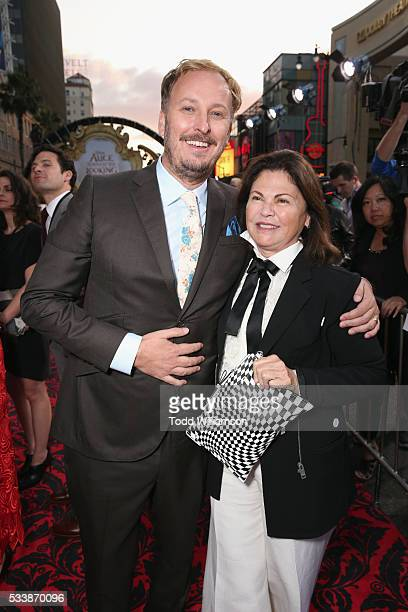Director James Bobin and Costume designer Colleen Atwood attend the premiere of Disney's 'Alice Through The Looking Glass' at the El Capitan Theatre...