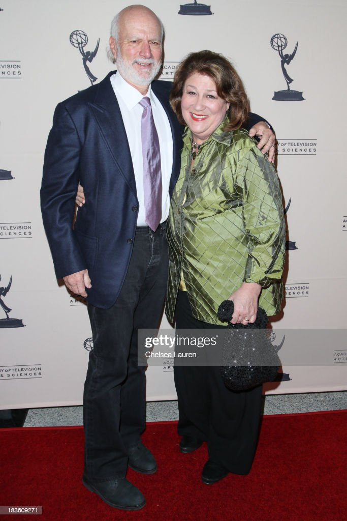 Director James Burrows and actress Margo Martindale arrive at 'An Evening Honoring James Burrows' at Academy of Television Arts Sciences on October 7...