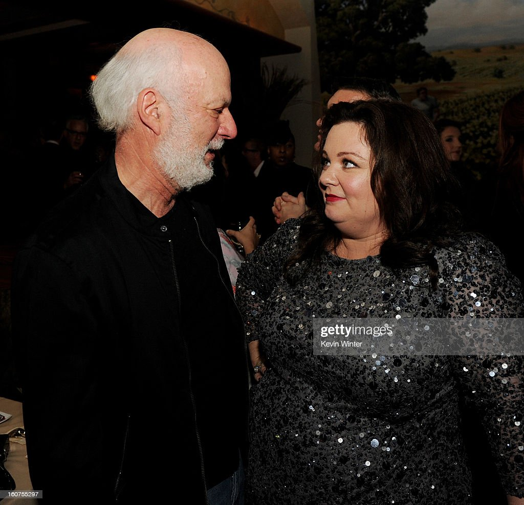 Director <a gi-track='captionPersonalityLinkClicked' href=/galleries/search?phrase=James+Burrows&family=editorial&specificpeople=799504 ng-click='$event.stopPropagation()'>James Burrows</a> (L) and actress <a gi-track='captionPersonalityLinkClicked' href=/galleries/search?phrase=Melissa+McCarthy&family=editorial&specificpeople=880291 ng-click='$event.stopPropagation()'>Melissa McCarthy</a> pose at the after party for the premiere of Universal Pictures' 'Identity Thief' at Napa Valley Grille on February 4, 2013 in Los Angeles, California.