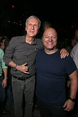 Director James Cameron and actor Michael Chiklis attend Entertainment Weekly's ComicCon Bash held at Float Hard Rock Hotel San Diego on July 24 2016...