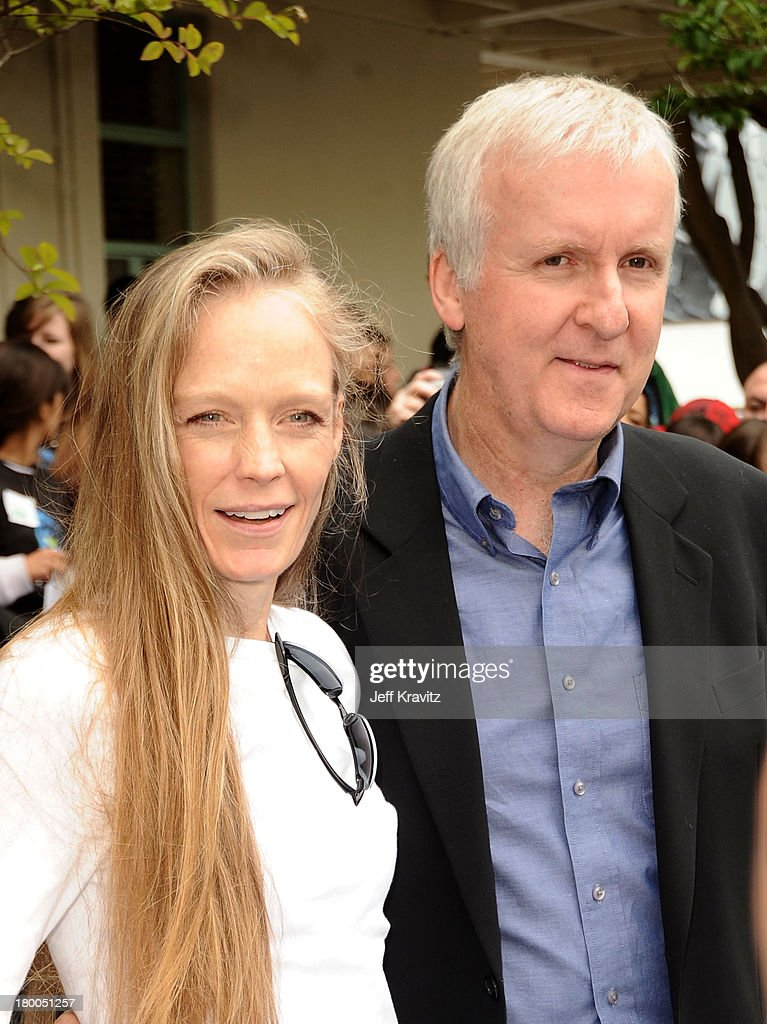 Director James Cameron and wife Suzy Amis plant first tree in North America symbolizing the one million tree initiative on behalf of the Avatar...
