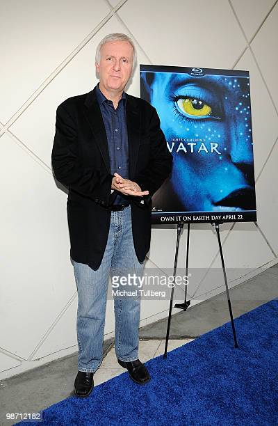 Director James Cameron arrives at 'Is Pandora Possible' a scientific discussion panel regarding the science and technology behind the film 'Avatar'...