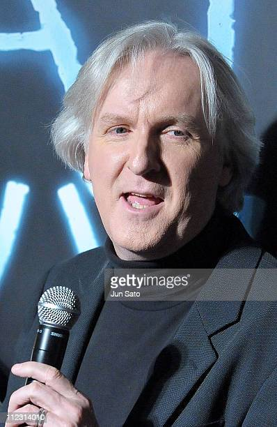 Director James Cameron attends 'Avatar' Japan Premiere at Roppongi Hills on December 21 2009 in Tokyo Japan The film will open on December 23 in Japan