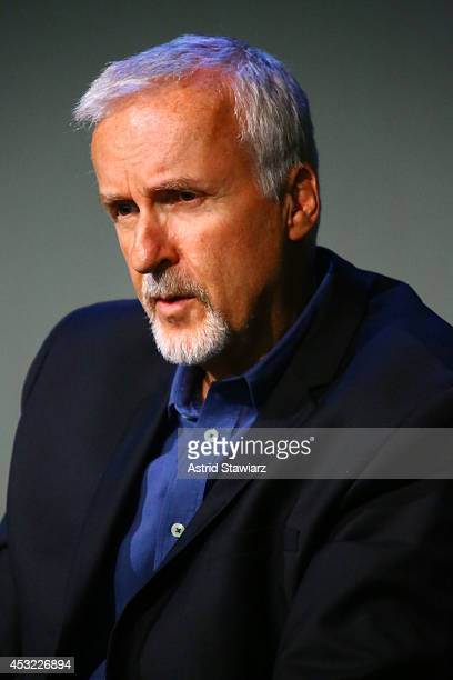 Director James Cameron attends 'Meet The Filmmakers James Cameron And John Bruno 'DEEPSEA CHALLENGE 3D' at Apple Store Soho on August 5 2014 in New...