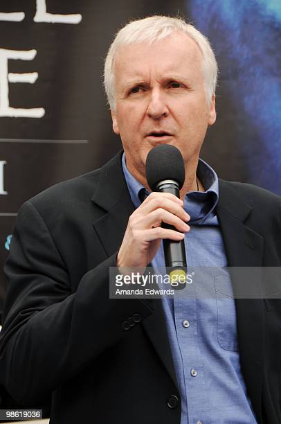 Director James Cameron attends the 20th Century Fox Earth Day Network's 'Avatar' Tree Planting Event on April 22 2010 in Los Angeles California
