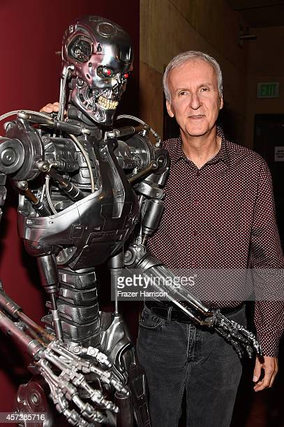 Director James Cameron attends the American Cinematheque 30th Anniversary Screening Of 'The Terminator' at the Egyptian Theatre on October 15 2014 in...