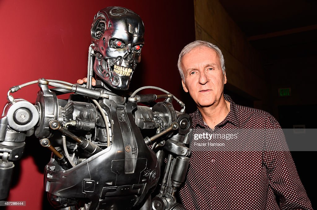 Director <a gi-track='captionPersonalityLinkClicked' href=/galleries/search?phrase=James+Cameron&family=editorial&specificpeople=206399 ng-click='$event.stopPropagation()'>James Cameron</a> attends the American Cinematheque 30th Anniversary Screening Of 'The Terminator' Q+A at the Egyptian Theatre on October 15, 2014 in Hollywood, California.
