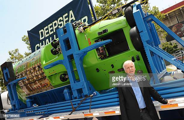 Director James Cameron attends the Deepsea Challenger photocall at California Science Center on June 1 2013 in Los Angeles California