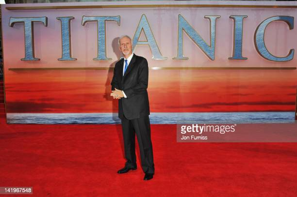 Director James Cameron attends the 'Titanic 3D' world premiere at the Royal Albert Hall on March 27 2012 in London England