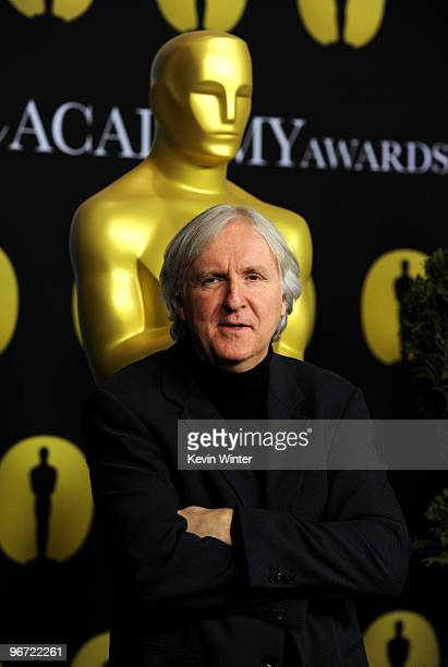 Director James Cameron poses at the 82nd annual Academy Awards Nominee Luncheon at Beverly Hilton Hotel on February 15 2010 in Los Angeles California
