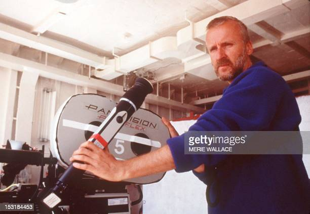 US Director James Cameron stands on the set of the movie 'Titanic' which was nominated for a recordtying 14 Academy Awards 10 February in Hollywood...