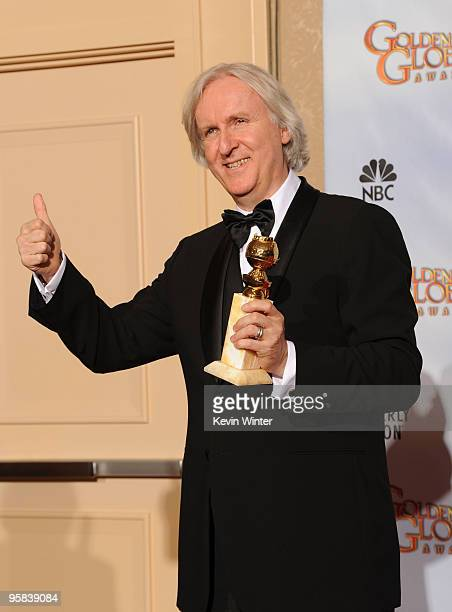 Director James Cameron winner of Best Motion Picture Drama award for 'Avatar' poses in the press room at the 67th Annual Golden Globe Awards held at...