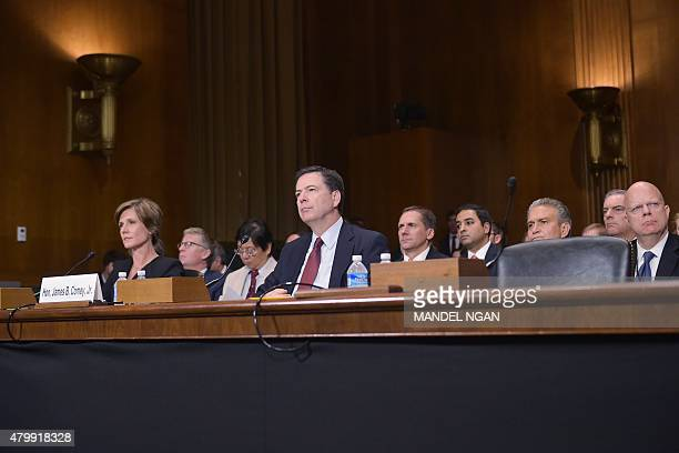 FBI Director James Comey and Deputy Attorney General Sally Quillian Yates are seated for the Senate Judiciary Committee hearing on Going Dark...