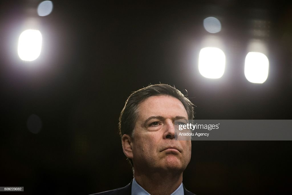 FBI Director James Comey testifies during a Senate Intelligence Committee hearing in Washington, USA on February 9, 2016.