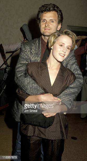 Director James Foley And Mary Stuart Masterson during 'At Close Range' Los Angeles Screening April 16 1986 at Mann's Bruin Theater in Westwood...