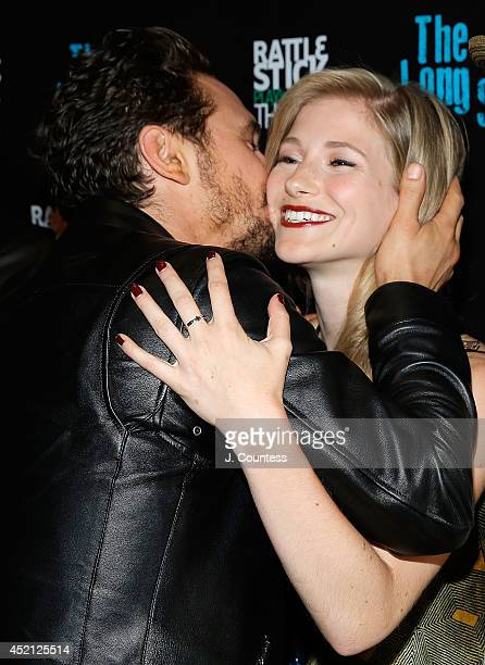 Director James Franco and actress Allie Gallerani attend 'The Long Shrift' after party at Rattlestick Playwrights Theater on July 13 2014 in New York...