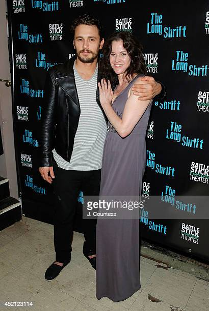 Director James Franco and actress Ally Sheedy attend 'The Long Shrift' after party at Rattlestick Playwrights Theater on July 13 2014 in New York City