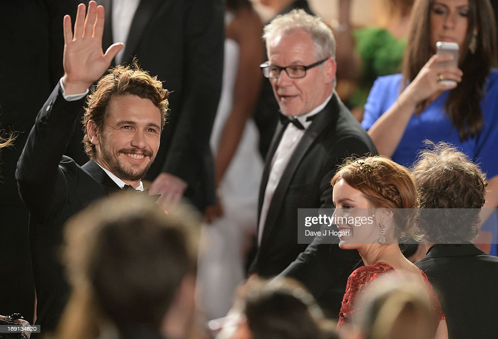 Director <a gi-track='captionPersonalityLinkClicked' href=/galleries/search?phrase=James+Franco&family=editorial&specificpeople=577480 ng-click='$event.stopPropagation()'>James Franco</a> and Cannes Film Festival artistic director <a gi-track='captionPersonalityLinkClicked' href=/galleries/search?phrase=Thierry+Fremaux&family=editorial&specificpeople=618039 ng-click='$event.stopPropagation()'>Thierry Fremaux</a> attend the 'As I Lay Dying' Premiere during the 66th Annual Camnes Film Festival at the Palais des Festivals on May 20, 2013 in Cannes, France.