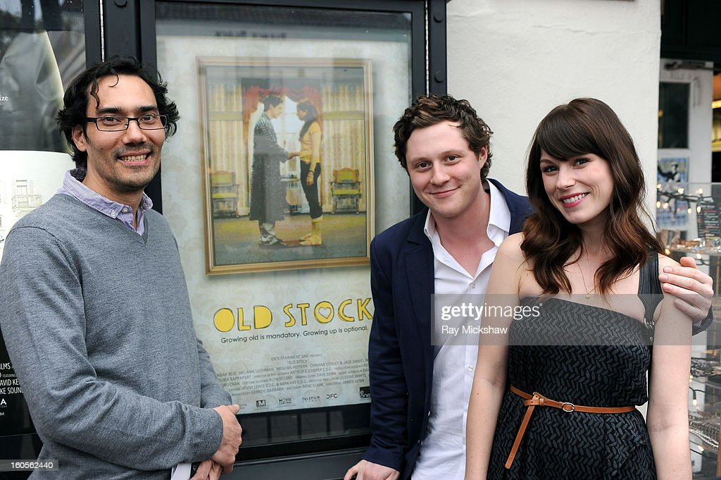 Director James Genn, actor Noah Reid and actress Meghan Heffern of the film 'Old Stock' at the 28th Santa Barbara International Film Festival on February 2, 2013 in Santa Barbara, California.