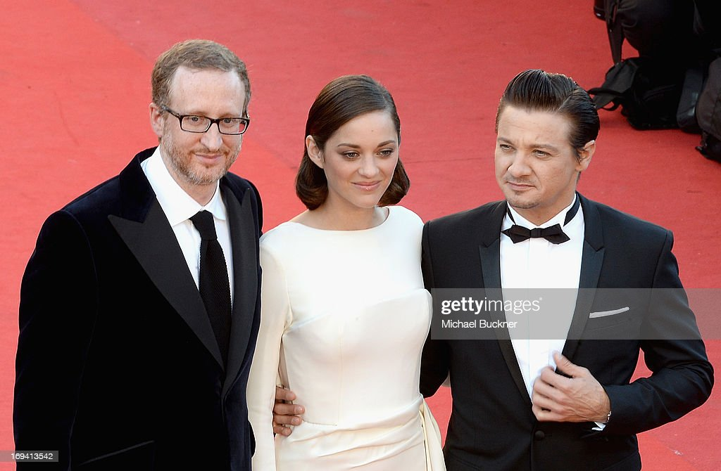 Director James Gray, actors Marion Cotillard and Jeremy Renner attend the 'The Immigrant' premiere during The 66th Annual Cannes Film Festival at the Palais des Festivals on May 24, 2013 in Cannes, France.