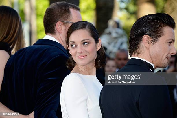 Director James Gray actors Marion Cotillard and Jeremy Renner attend the 'The Immigrant' premiere during The 66th Annual Cannes Film Festival at the...