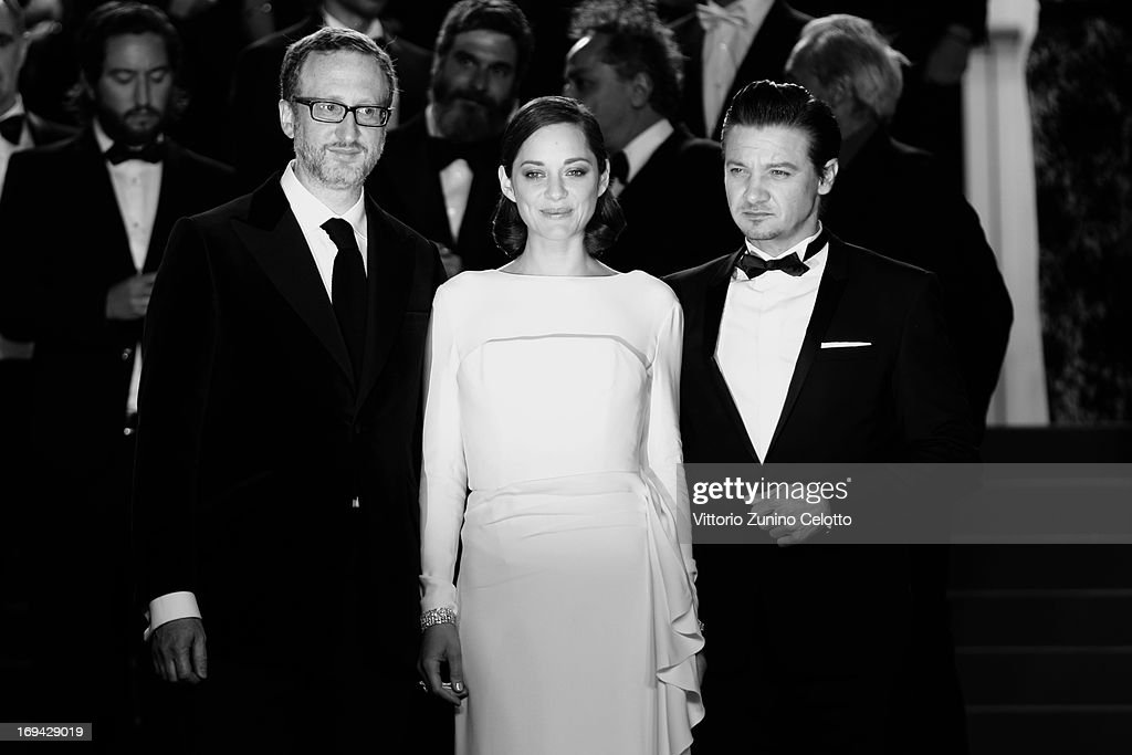 Director James Gray, actress Marion Cotillard and actor Jeremy Renner attend 'The Immigrant' Premiere during the 66th Annual Cannes Film Festival on May 24, 2013 in Cannes, France.