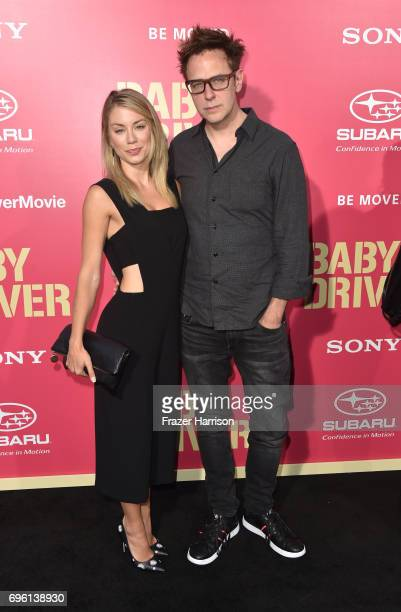 Director James Gunn arrives at the Premiere of Sony Pictures' 'Baby Driver' at Ace Hotel on June 14 2017 in Los Angeles California