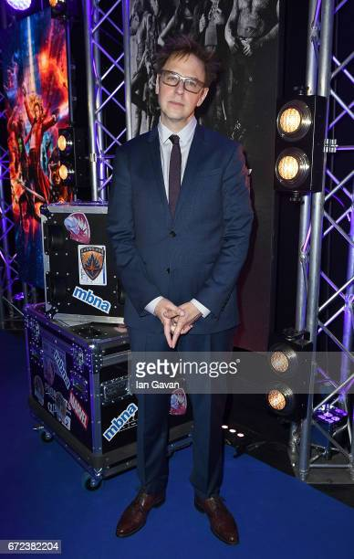 Director James Gunn attends the European launch event of Marvel Studios' 'Guardians of the Galaxy Vol 2' at the Eventim Apollo on April 24 2017 in...
