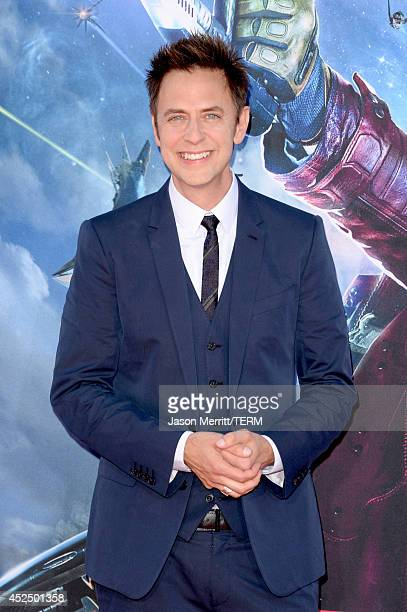 Director James Gunn attends the premiere of Marvel's 'Guardians Of The Galaxy' at the Dolby Theatre on July 21 2014 in Hollywood California