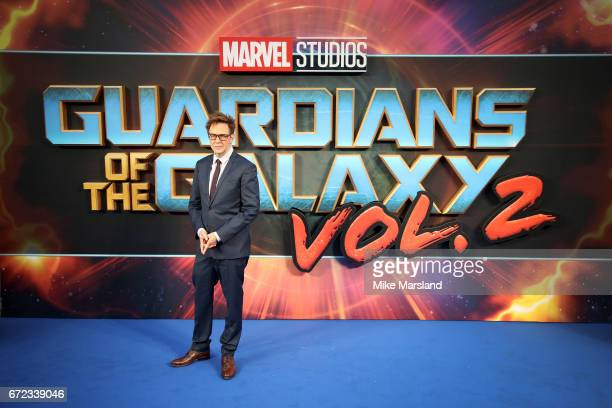 Director James Gunn attends the UK screening of 'Guardians of the Galaxy Vol 2' at Eventim Apollo on April 24 2017 in London United Kingdom