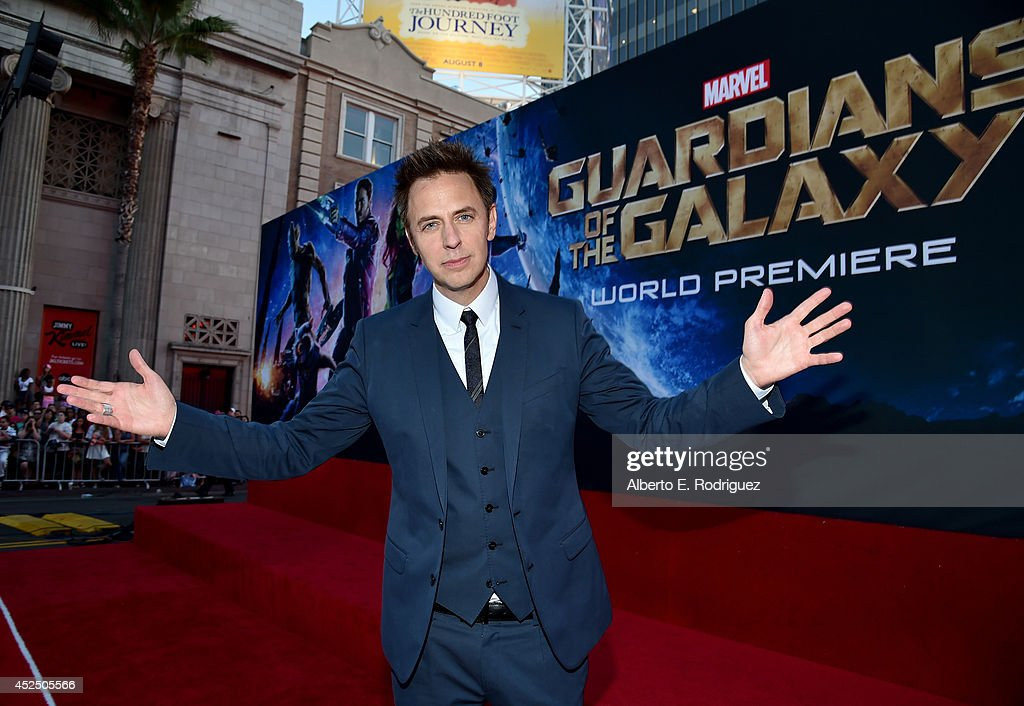 "Director James Gunn attends The World Premiere of Marvel's epic space adventure ""Guardians of the Galaxy,"" directed by James Gunn and presented in Dolby 3D and Dolby Atmos at the Dolby Theatre. July 21, 2014 Hollywood, CA"